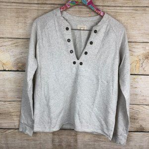 Lucky Brand lace up pullover size S // 0223